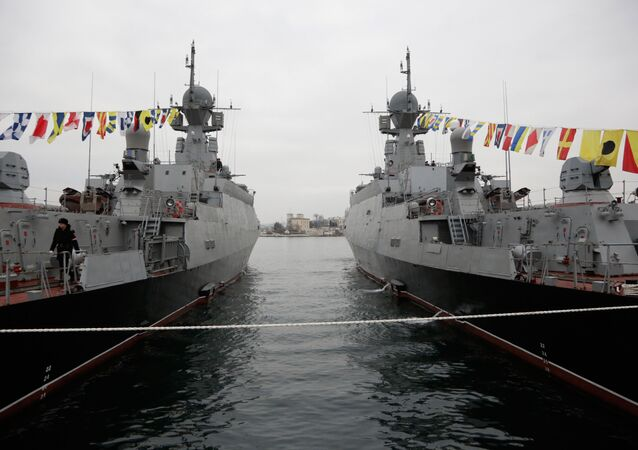Flags raised at Russian Navy's new ships Zelyony Dol and Serpukhov