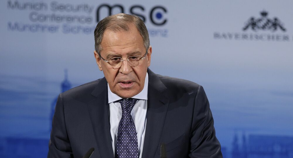 Russian Foreign Minister Sergey Lavrov delivers his speech at the  Munich Security Conference in Munich, Germany (File)