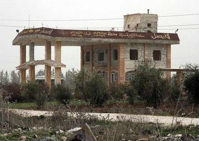 Menagh Air Base (or Minnigh airport, Minakh Air Base ) is a Syrian Air Force installation located 6 kilometres (3.7 mi) south of Azaz, Aleppo Governorate, Syria