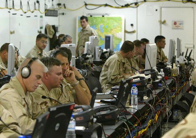 US soldiers work in the Joint Operations Center (File)