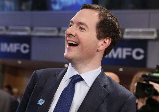 Former Britain's Chancellor of the Exchequer George Osborne