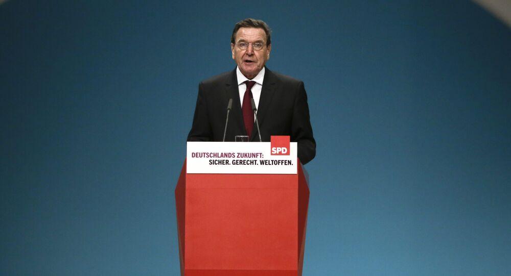 Former German SPD Chancellor Gerhard Schroeder