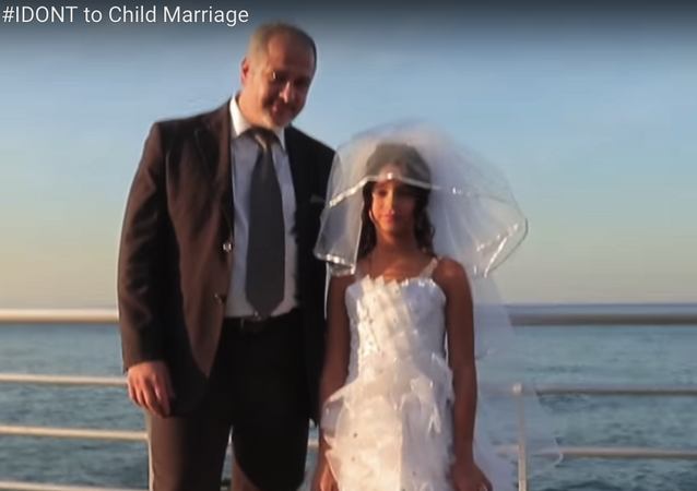 Screenshot from a video campaign depicting a child marriage in Lebanon