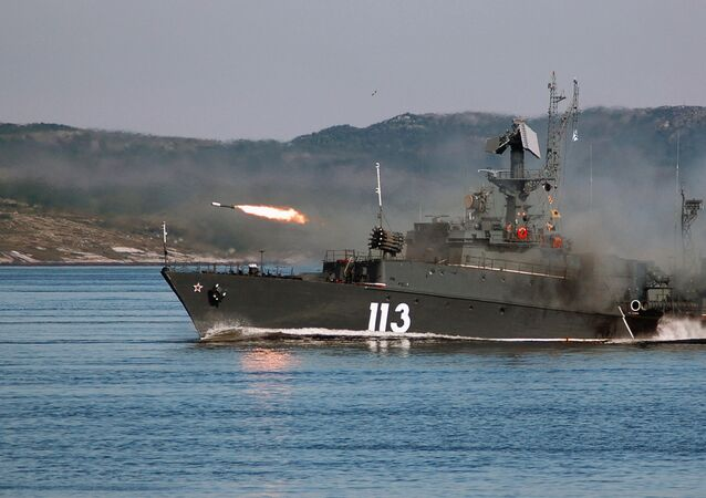 Firing missiles. The Northern Fleet, Severomorsk. (file photo)