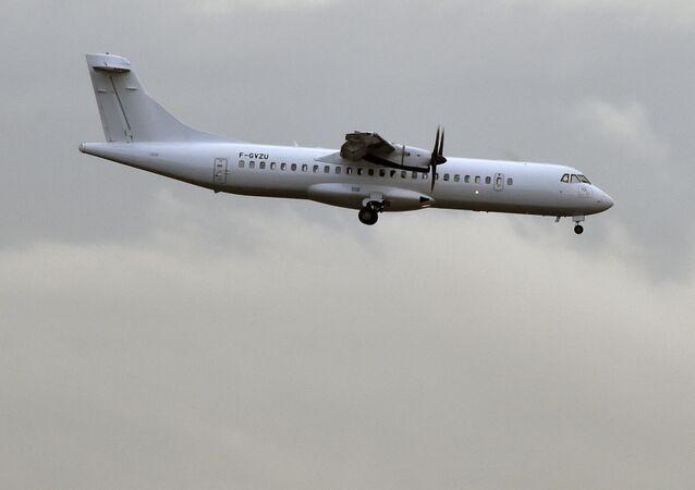 An ATR 72 aircraft