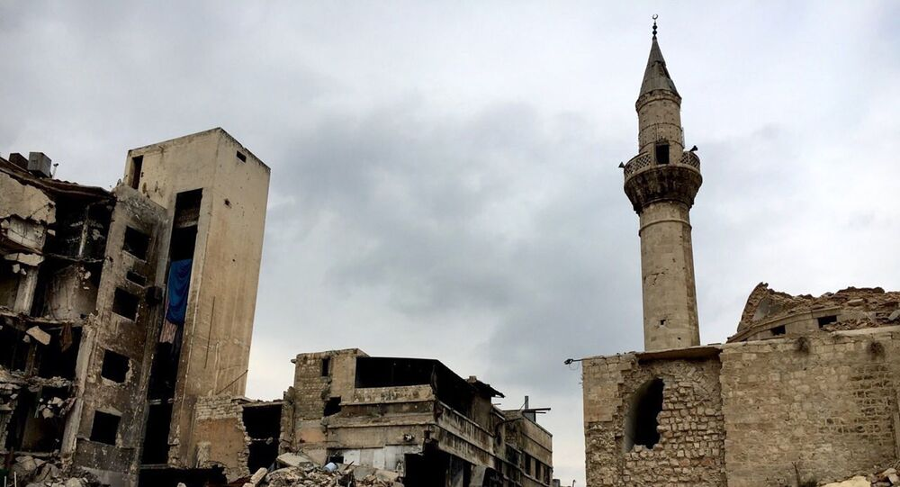 Old Town destruction in Aleppo.