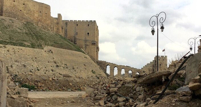 The Citadel, a formidable fortress built on the high hill in the heart of Aleppo, joined the UNESCO World Heritage site list in 1986.