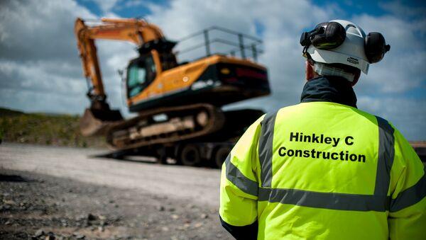 Hinkley Point C pre-construction works, May 2015. - Sputnik International