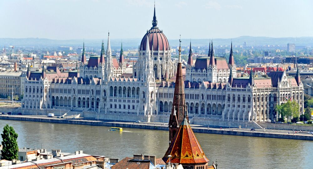 View of Hungarian Parliament, Budapest