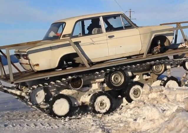 Only in Russia: Lada Tank!