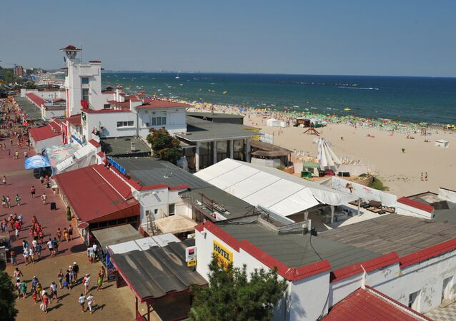 General view of Mamaia seaside tourists resort located 260 km east from the Romanian capital Bucharest . file photo