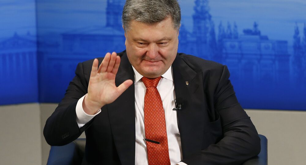 Ukrainian President Petro Poroshenko waves at the Security Conference in Munich, Germany, (File)