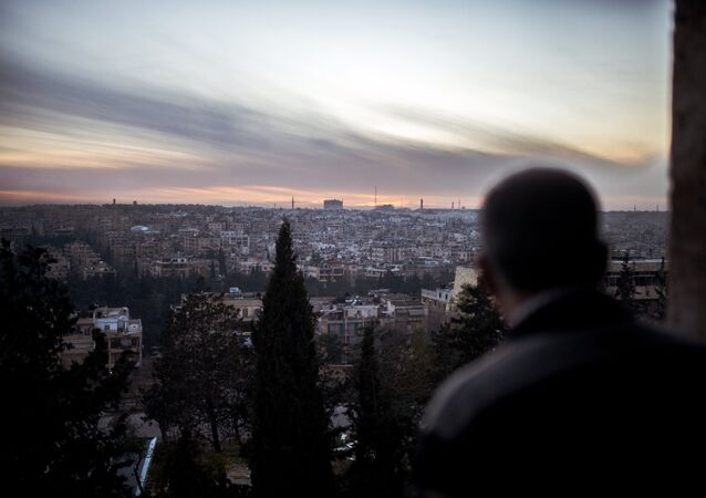 A view of the city of Aleppo