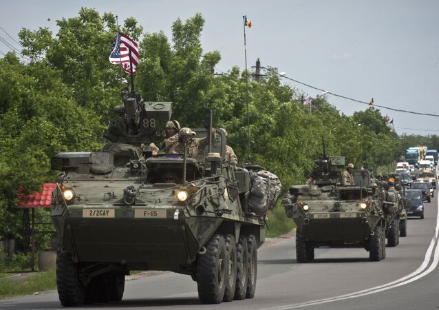 US Army armored vehicles