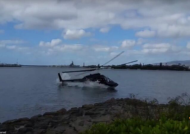 Civilian Helicopter Crashes at Pearl Harbor