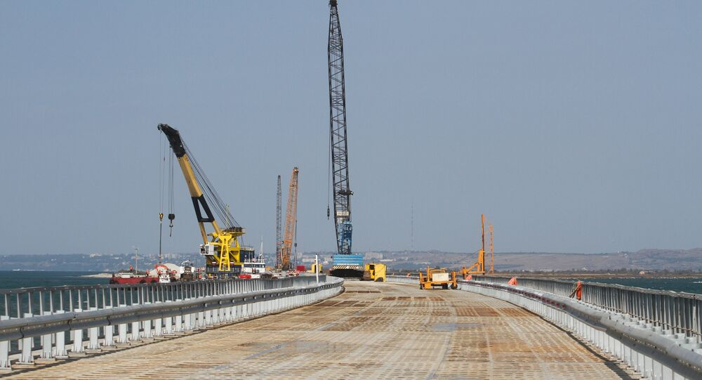 Kerch Strait Bridge Preparatory Work in Taman