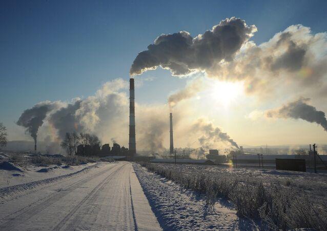 Work of Ufaleynickel factory in Chelyabinsk region