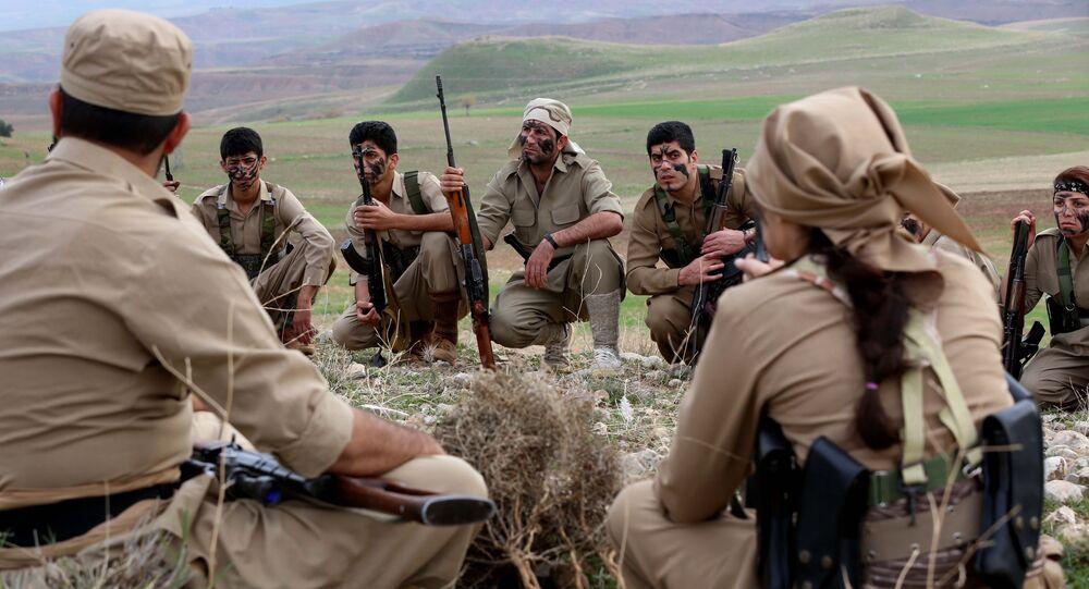Iranian Kurdish Peshmerga members of the Kurdistan Democratic Party of (KDP-Iran).