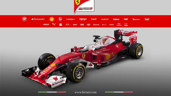 The new Ferrari F1 car SF16-H is seen in this picture released by Ferrari press office in Fiorano, Italy February 19, 2016 - Sputnik International