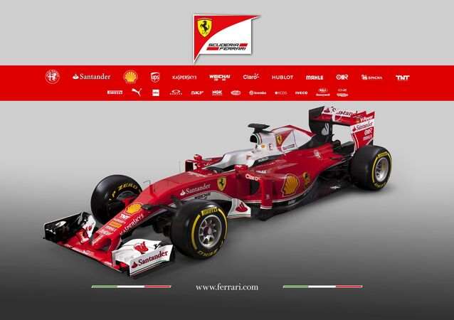 The new Ferrari F1 car SF16-H is seen in this picture released by Ferrari press office in Fiorano, Italy February 19, 2016