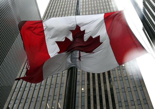 The Canadian flag flies at half-mast at the Consulate General of Canada in New York October 23, 2014.