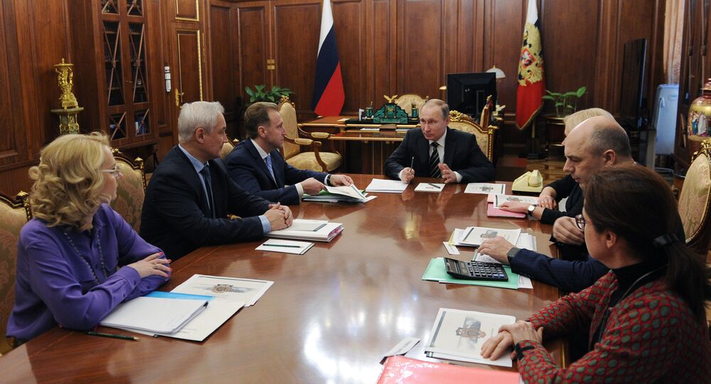 President Vladimir Putin holds meeting in Kremlin