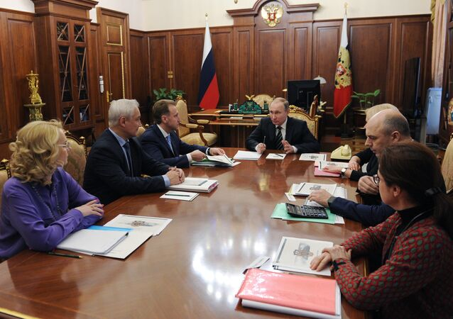 President Vladimir Putin holds meeting in Kremlin