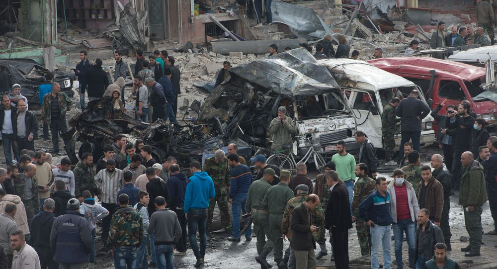 At least 46 people fell victim to the double blasts in the Zahra neighborhood of Homs and 115 were injured