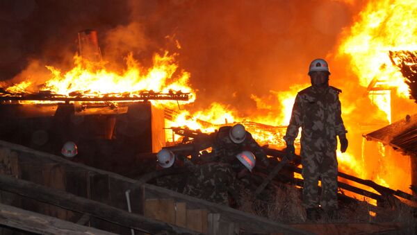 Firefighters in China. File photo - Sputnik International