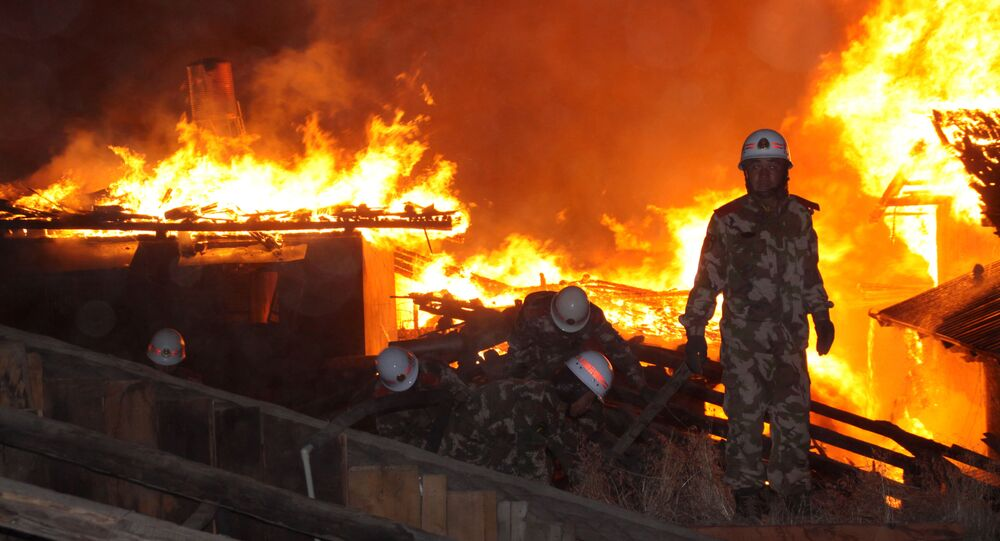 Firefighters in China. File photo