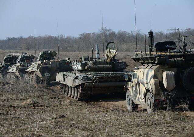 Motorized infantry exercise at Sernovodsky range