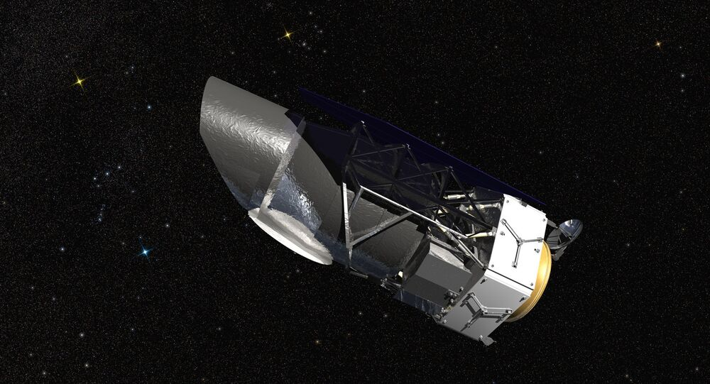 Artist conception of the Wide Field Infrared Survey Telescope (WFIRST)