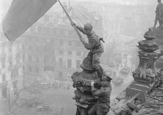 The Victory banner above Berlin