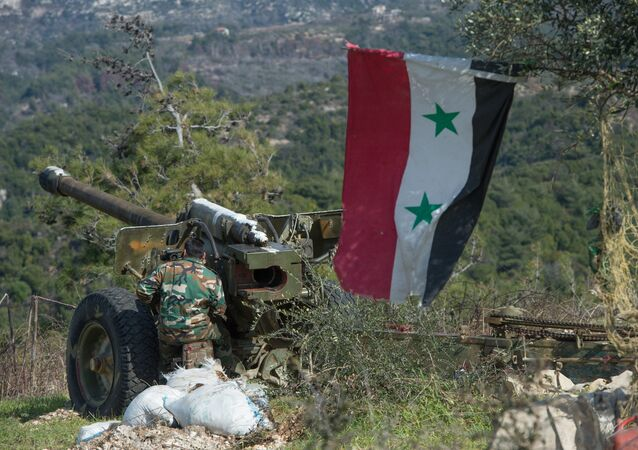 Syrian army artillery soldiers in Idlib province in northwestern Syria. file photo