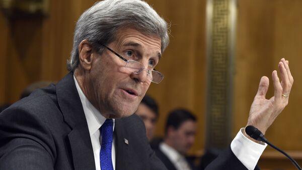 Secretary of State John Kerry testifies on Capitol Hill in Washington, Tuesday, Feb. 23, 2016. - Sputnik International