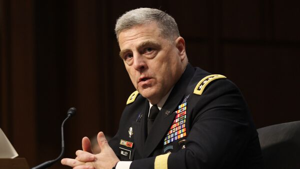 Gen. Mark Milley answers questions at his confirmation hearing to be Chief of Staff of the Army at the Senate Armed Services Committee on July 21, 2015. - Sputnik International