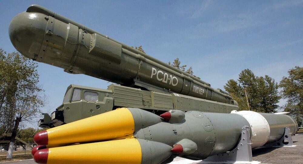 The medium-range RSD-10 Pioneer missile system. (File)