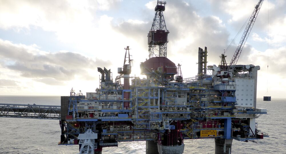 Oil and gas company Statoil drilling and accommodation platform Sleipner A is pictured in the offshore near the Stavanger, Norway, February 11, 2016