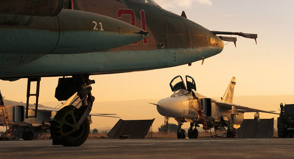 Russian jets at the Hmeymim airbase in Syria