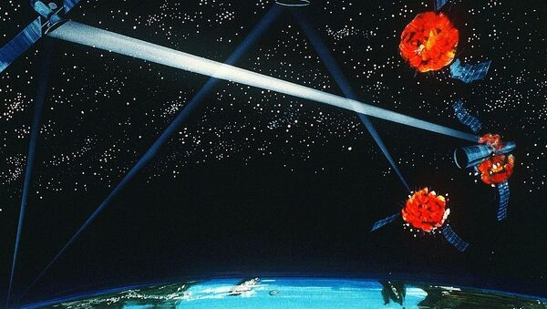 A Pentagon artist's concept of a ground / space-based hybrid laser weapon, 1984 - Sputnik International