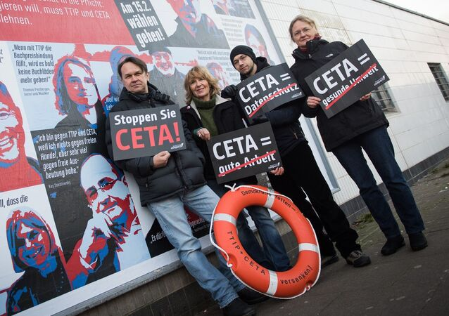 Anti CETA demonstrators