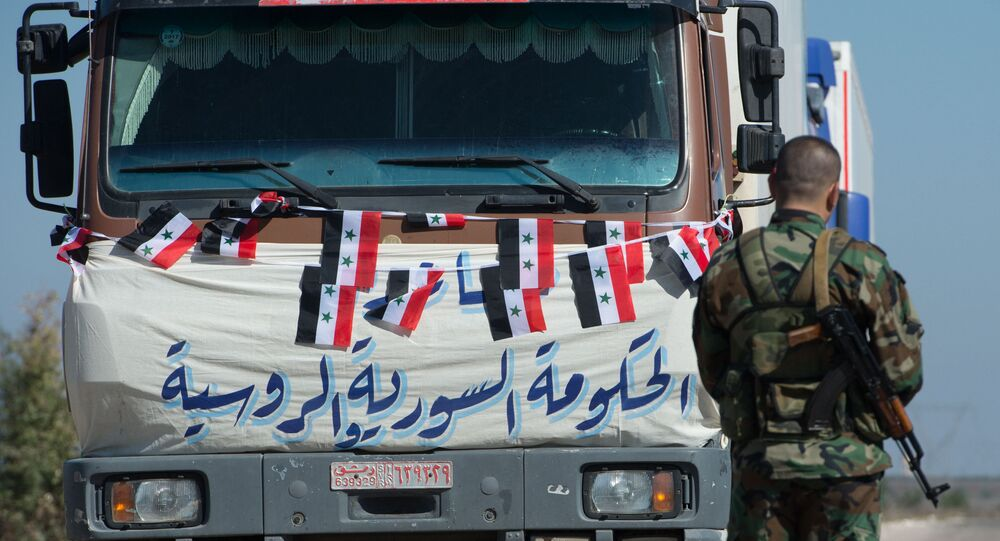 A convoy with humanitarian aid, Syria
