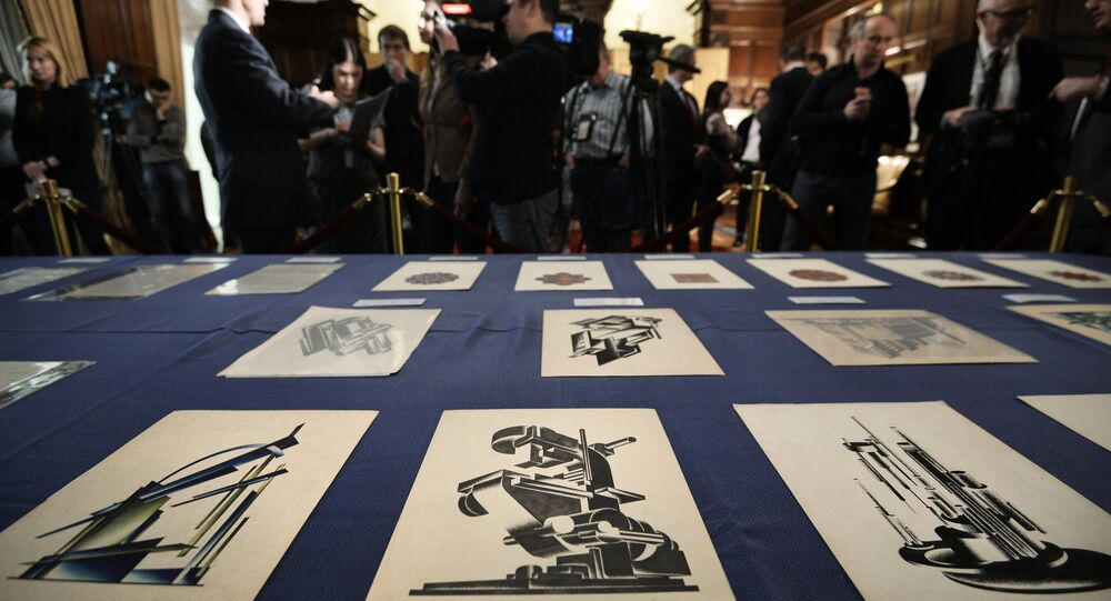 Architect Yakov Chernikhov's drawings which on March 3, 2016, among other historical documents stolen from the Russian archives in the 1980s-2000s, were handed over by the US side to the Russian Federation at the US ambassador John Tefft's residence in Moscow