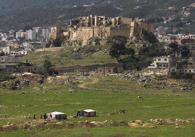 Masyaf Castle is seen near the town of Masyaf in Hama province, in Syria