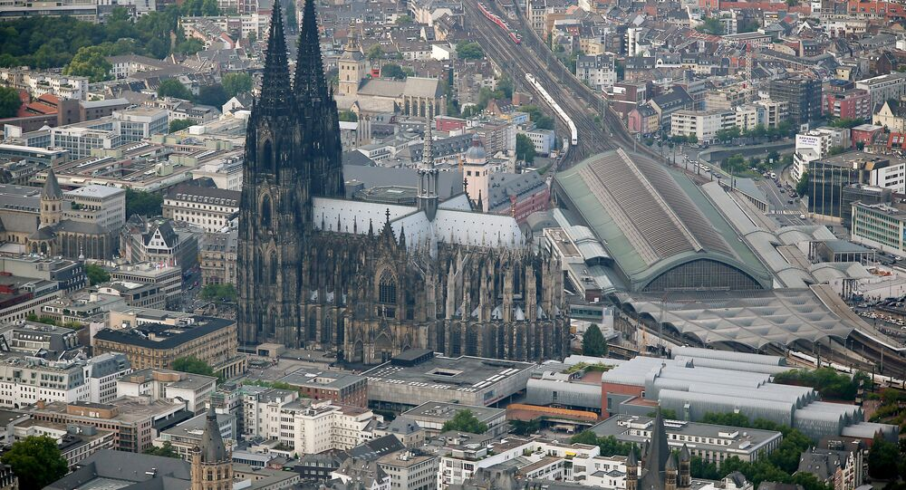 An aerial view shows the dome in Cologne, western Germany. (File)