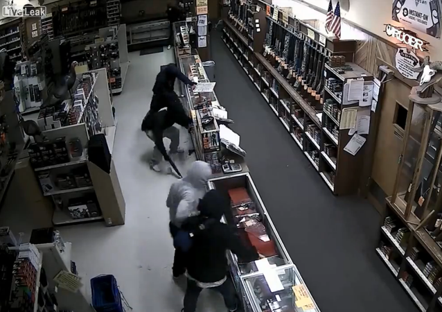 Grand theft in gun store