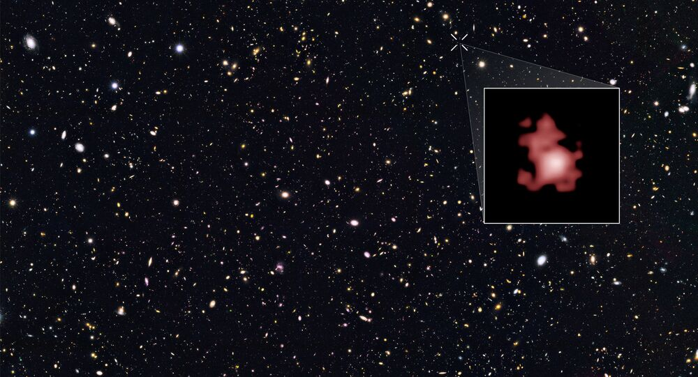 The location of galaxy GN-z11, which is the farthest galaxy ever seen.
