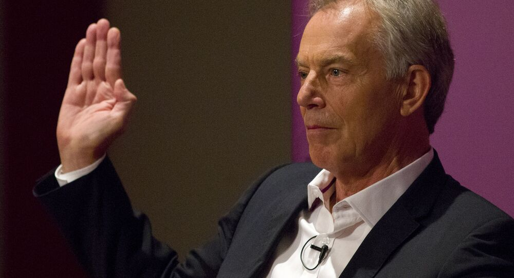 Britain's former Prime Minister and former Labour Party leader, Tony Blair.