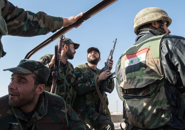 Soldiers of the Syrian Arab Army (SAA). File photo