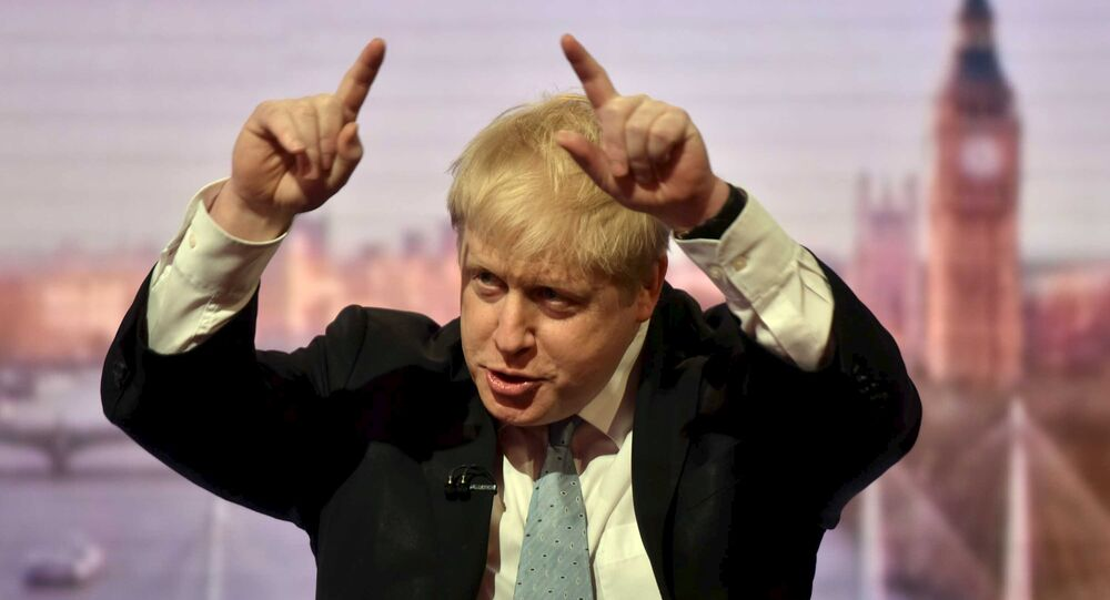 London Mayor Boris Johnson is seen speaking on the BBC's Andrew Marr Show in this photograph received via the BBC in London, Britain March 6, 2016